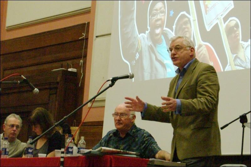Joe Higgins speaking