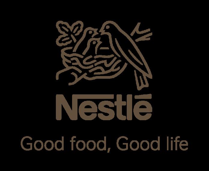 Nestlé logo which says