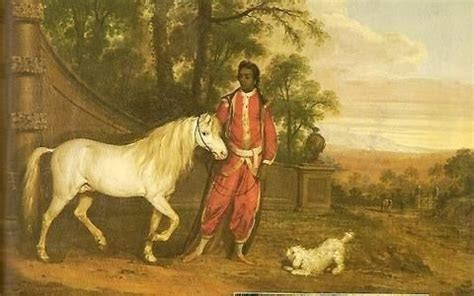 A portrait of Tony Small with a horse and dog.