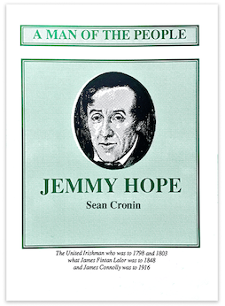 A green pamphlet by Sean Cronin about Jemmy Hope
