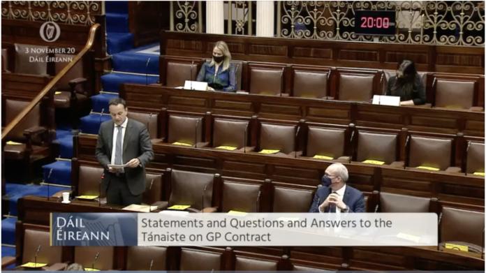 Leo Varadkar addresses the Dáil